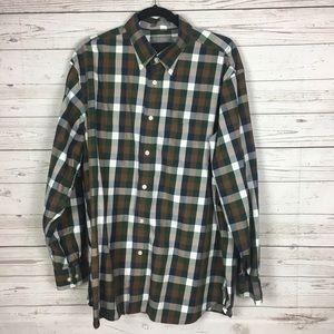 Daniel Cremieux LS Button Down Plaid Shirt XL B5